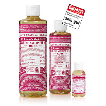 Dr. Bronner's - 18-IN-1 - HEMP ROSE - Pure-Castile Soap