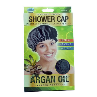 Dream - ARGAN OIL DELUXE SHOWER CAP Black - Afroshoppe.ch