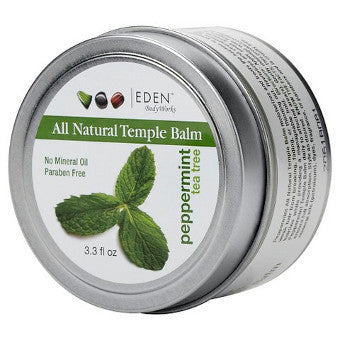 Eden BodyWorks - All Natural PEPPERMINT TEA TREE TEMPLE BALM - Afroshoppe.ch