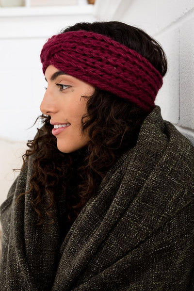 Grace Eleyae - Wine Warm Knit Headband - Afroshoppe.ch