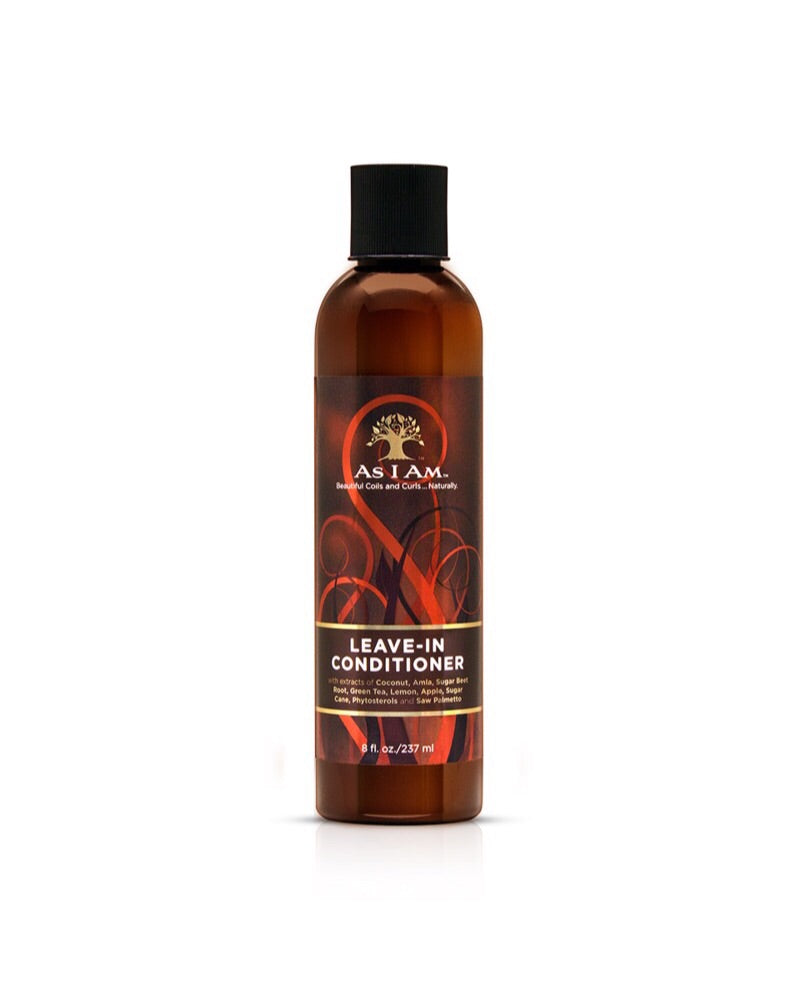 As I Am - Coconut Leave-In Conditioner with extracts of Coconut, Amla, Sugar Beet Root, Green Tea, Lemon, Apple, Sugar Cane, Saw Palmetto, and Phytosterols