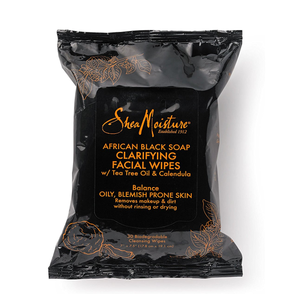 Shea Moisture - African Black Soap Clarifying Facial Wipes w/ Tea Tree & Calendula - Afroshoppe.ch