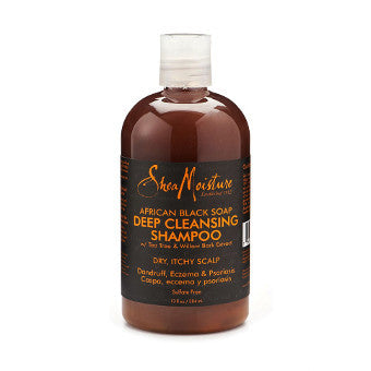 Shea Moisture - African Black Soap - Deep Cleansing Shampoo w/ Tea Tree & Willow Bark Extract - Afroshoppe.ch