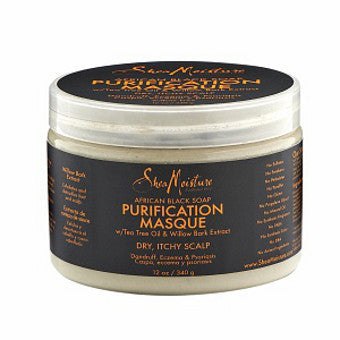 Shea Moisture - African Black Soap - Purification Masque w/ Tea Tree Oil & Willow Bark Extract