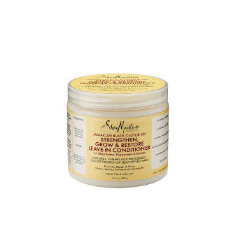 Shea Moisture - Jamaican Black Castor Oil - Strengthen, Grow & Restore Leave-In Conditioner w/ Shea Butter, Peppermint & Keratin