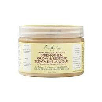 Shea Moisture - Jamaican Black Castor Oil - Strengthen, Grow & Restore Treatment Masque w/ Shea Butter, Peppermint & Keratin