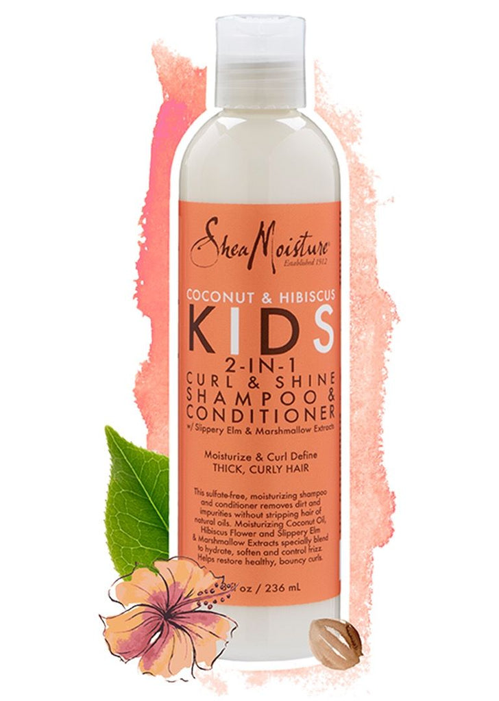 Shea Moisture - Kids - 2-in-1 Curl & Shine Shampoo & Conditioner - Afroshoppe.ch