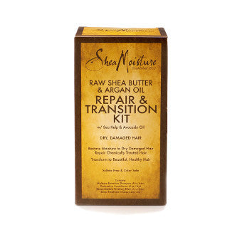 Shea Moisture - Raw Shea Butter & Argan Oil-  Repair & Transition Kit w/ Sea Kelp & Argan Oil - Afroshoppe.ch