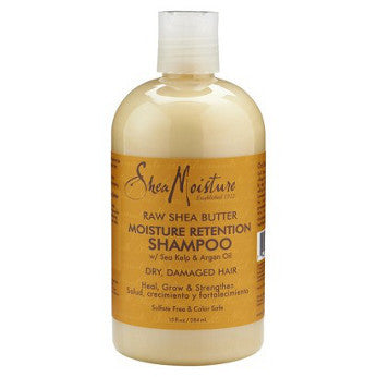 Shea Moisture - Raw Shea Butter - Moisture Retention Shampoo w/ Sea Kelp & Argan Oil - Afroshoppe.ch