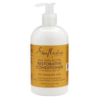 Shea Moisture - Raw Shea Butter - Restorative Conditioner w/ Sea Kelp & Argan Oil - Afroshoppe.ch