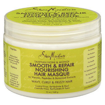 Shea Moisture - Tahitian Noni & Monoi - Smooth & Repair Nourishing Hair Masque w/ Keratin, Peptides & Botanical Extracts