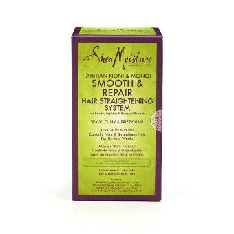 Shea Moisture - Tahitian Noni & Monoi - Smooth & Repair Hair Straightening System w/ Keratin, Peptides & Botanical Extracts - Afroshoppe.ch