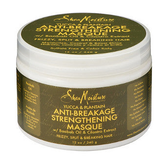 Shea Moisture - Yucca & Plantain - Anti-Breakage Strengthening Masque w/ Baobab Oil & Cilantro Extract - Afroshoppe.ch