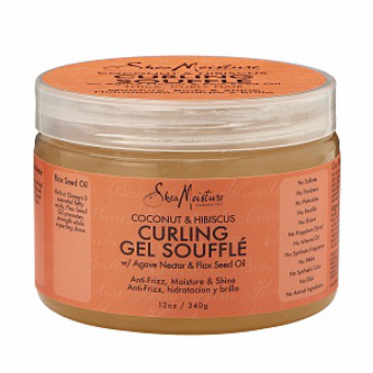 Shea Moisture - Coconut & Hibiscus - Curling Gel Souffle w/ Agave Nector & Flax Seed Oil - Afroshoppe.ch