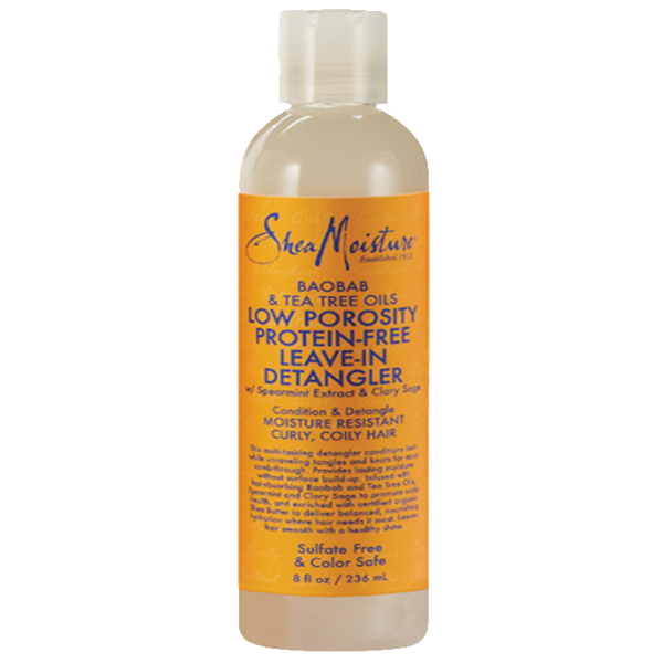 Shea Moisture - BAOBAB & TEA TREE OILS LOW POROSITY PROTEIN-FREE LEAVE-IN DETANGLER - Afroshoppe.ch