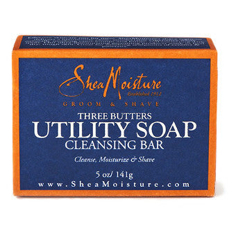 Shea Moisture - Groom & Shave - Three Butters Utility Soap Cleansing Bar - Afroshoppe.ch
