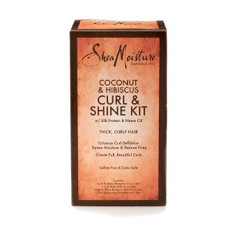Shea Moisture - Coconut & Hibiscus - Curl & Shine Kit w/ Silk Protein & Neem Oil
