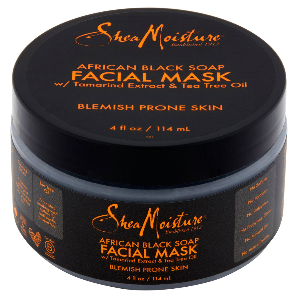 Shea Moisture - African Black Soap - Clarifying Mud Mask w/ Tamarind Extract & Tea Tree Oil