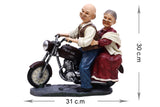 Cute Grandpa and Grandma on Motorbike