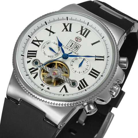 Forsining Men's Luxury Movement Collection Day Calendar Wrist Watch