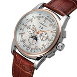 Forsining Luxury self winding moon phase watch for men