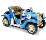 Beautiful retro style blue car statue