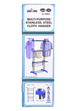 3 Tier Foldable Clothes Drying Stainless Steel Rack and Clothes stand - DIY