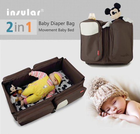 Multi-function Messenger Diaper Bag and Portable Baby Bed
