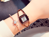 Fashionable Square Skeleton Bracelet Watch
