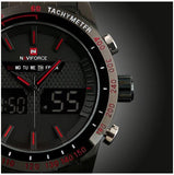Naviforce super stylist, analog and digital watch for home and office.