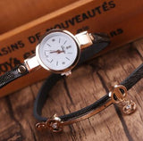 Casual bracelet wristwatch for women