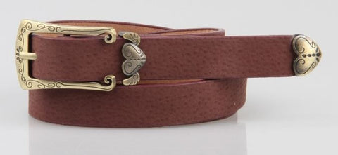 Retro finish slender waist belt for women