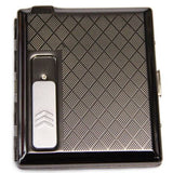 Stylish Cigarette Case with Rechargeable Electronic Lighter