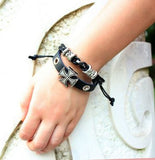 Punk style Cross bracelet for Men/Women