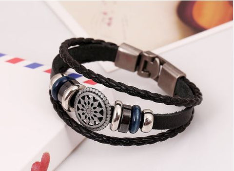 Charming handmade leather bracelet for Men/Women