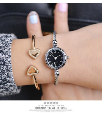 Elegant and delicate womens bracelet watch