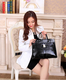 Black Leather Bags for Women  With Metal Logo