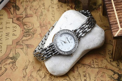Good looking steel belt womens watch