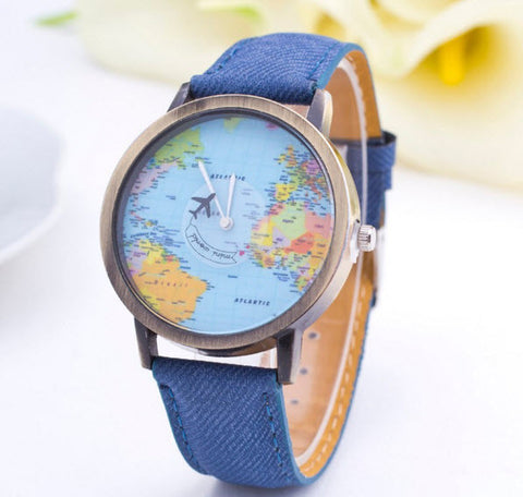 Denim watch for stylish women