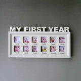 First Year Multi-Photo Wall Picture Frame - Baby/Kids - 12 Months