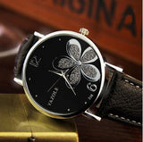 Flower design wristwatch