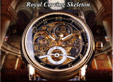Forsining Skeleton dial Luxury Automatic watches for men