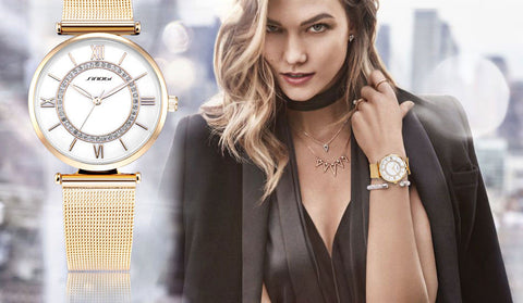 Beautiful Sinobi watch for women with mesh band