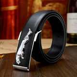 Dashing looking Watch & Stylish Jaguar Belt Combo