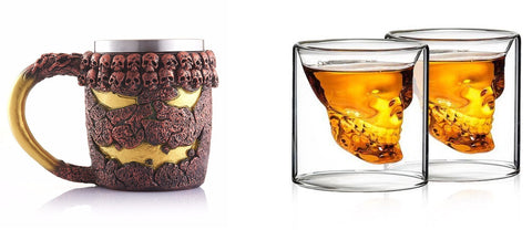 Halloween Mug and Shot Glasses Combo