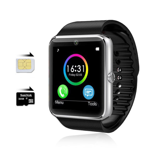 Smart watch GT08: Make calls, Send/recieve SMS, Music and fitness monitoring from your watch