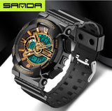 Sanda Digital and Analog Military styled watch