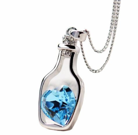 Crystal Necklace Love Drift Bottles Jewelry