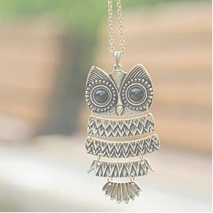 Bronze Cute Owl Necklace