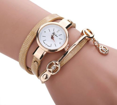 Fashionable quartz wrist watch for women